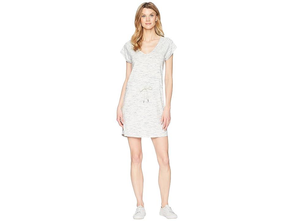 Lilla P Short Sleeve V-Neck Dress (Grey/Navy) Women
