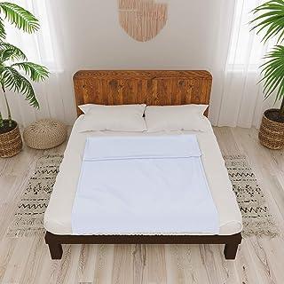 Dreamzie - Bezug Baumwolle für Gewichtsdecke 140x200 cm - 8 Bänder und Reißverschluss - Einfach zu Reinigen für Gewichtsdecken