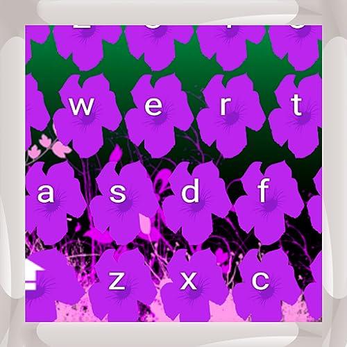 Lila Blumen Tastaturen