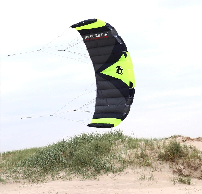Wolkenstürmer Paraflex Trainer 3.1 Action Kite - 3 Line Trainer Steering Mat para Mountainboarding