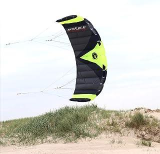 Wolkenstürmer Paraflex Trainer 3.1 Actionkite Neongrün – 3 Leiner..