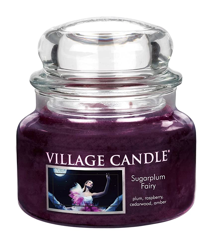 シンジケート文化居住者(Small (330ml)) - Village Candle Sugarplum Fairy 330ml Glass Jar Scented Candle, Small