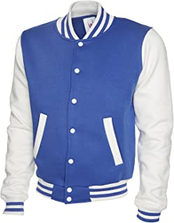 Uneek Mens Letterman Varsity Baseball College Sweatshirt Jacket All Colours & Sizes