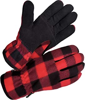SKYDEER Winter Gloves with Premium Genuine Deerskin Suede Leather and Windproof Thermal..