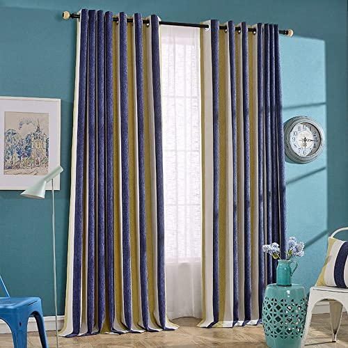 Navy And Yellow Curtains Amazoncom