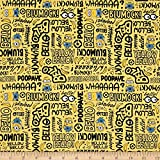 Fabric & Fabric 0491933 QT Millions Minion Lingo Banana Fabric by The Yard