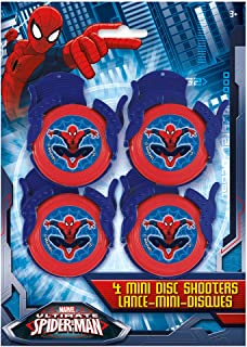 Spiderman Mini Disc Shooter Party Favors, 4ct