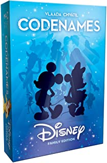 Codenames Disney Family Edition | Best Family Board Game, Great Game for All Ages | Featuring Disney Characters, Disney Artwork | Board Game for 2 Players or More | Perfect for Disney Fans