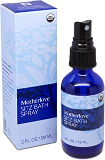 Motherlove Sitz Bath Spray (2oz) Convenient Herbal Mist w/Witch Hazel for Postpartum Care—Soothes Sore Perineal Muscles & ...