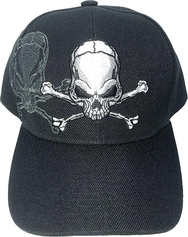 AborenCo Skull and Crossbones Cap Base Embroidery with Easy-to-use 3D At the price of surprise Shadow