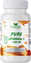 Sundhed Natural Pure Liposomal Vitamin C - 1200mg Immune System & Collagen health Booster, Anti Inflammatory, Anti Aging S...