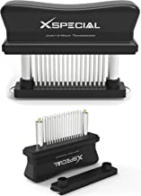 XSpecial Meat Tenderizer Tool 48 Blades Stainless Steel | Easy To Use & Clean - Turn Tough & Hard Meats Into Tender Butter...