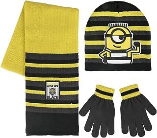 Cerdá 2200002552 Set de bufanda, gorro y guantes, Multicolor (Amarillo 001), One Size (Tamaño del fabricante:Única) para N...