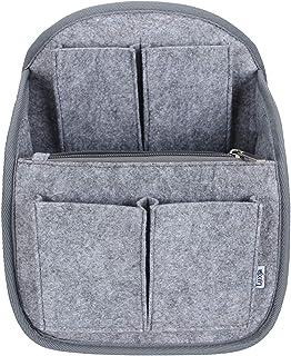 Luxja リュック用 バッグインバッグ フェルト a4 縦 自立 軽量 持ち手付き 収納 整理 インナーバッグ グレー