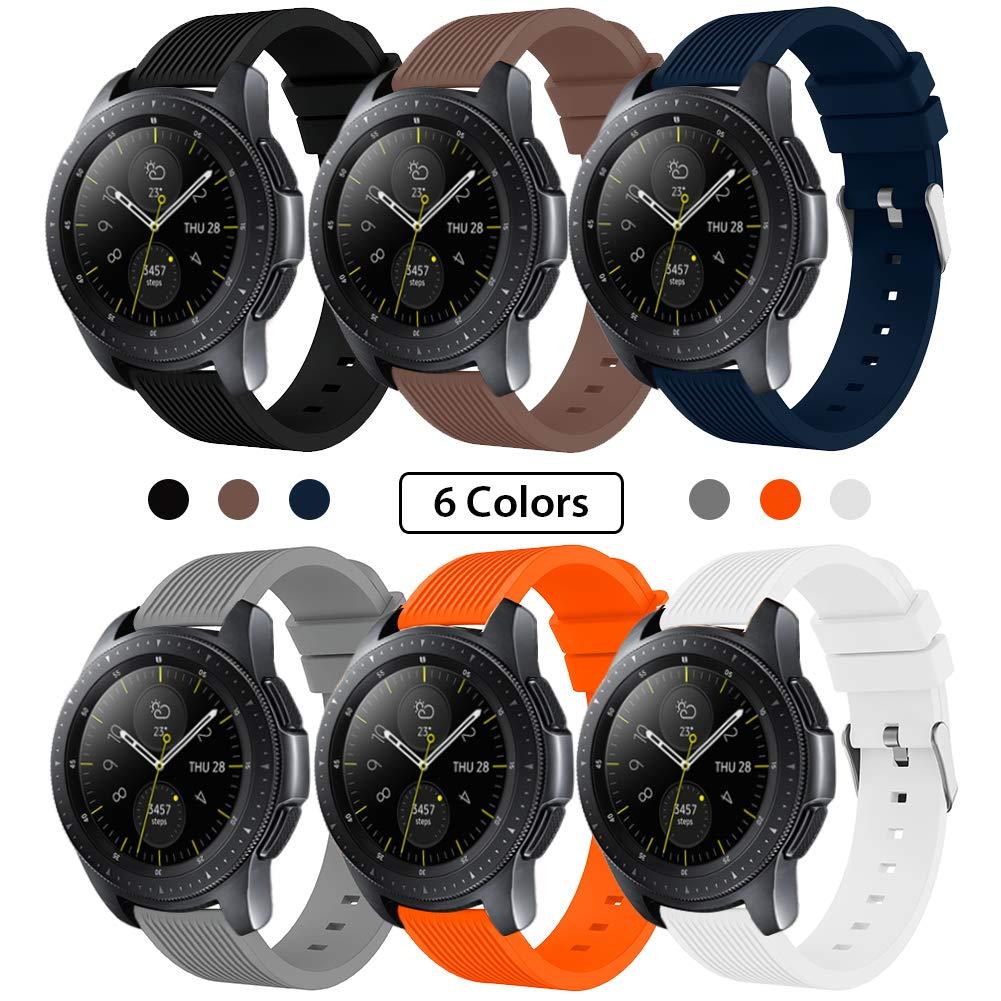 SUNDAREE Compatible con Correa Galaxy Watch 42MM/Galaxy Watch Active2,6 Colores Silicona Reemplazo Correa 20MM Banda Pulsera de Repuesto Correa para Samsung Galaxy Watch Active2 40mm/44mm(42 Black): Amazon.es: Electrónica