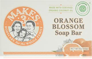 Organic Orange Blossom Soap Bar 4 Pack - Superfood for the Skin - 100% Handcrafted in USA - Citrus & Floral Smells - Calmi...