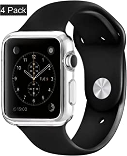 [4pack] Case for Apple Watch Series 1/Original(2015), CaseHQ i Watch TPU All-Around Protective 0.3mm hd Clear Ultra-Thin Cover case for Apple Watch Series 1/ Original (2015) (38mm)-Clear