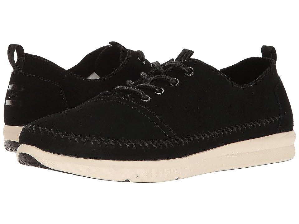 TOMS Del Rey Sneaker (Black Suede/Whipstitch) Men