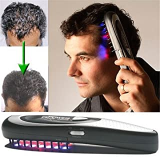 MQ Electric Laser Hair Growth Comb Hair Brush Grow Laser Hair Loss Therapy Comb Regrowth Device Machine Ozone Infrared Mas...
