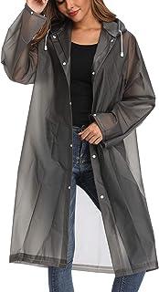 Besshopie EVA بارانی بارانی ضد آب باران Poncho قابل استفاده مجدد برای مردان یکجنس لباس بلند باران