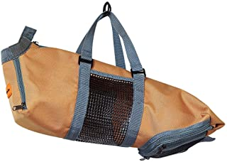 Pet Cat Grooming Bag Restraint Bag Cats Nail Clipping Cleaning Grooming Bag Cat Pet Supply (Color : Brown, Size : M)