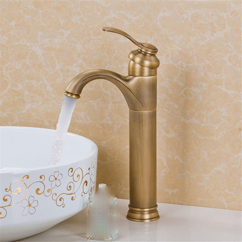 Fbict European Faucet hot and Cold Bathroom Basin Faucet Retro Faucet Copper Faucet hot and Cold, Single Faucet for Kitchen Bathroom Faucet Bid Tap