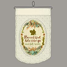 Heritage Lace Bountiful Blessings Wall Hanging, Café