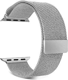Apple Watch 44-42MM Series 1 2 3 4 İçin Milanese Mıknatıslı Kordon Markacase (Gümüş)