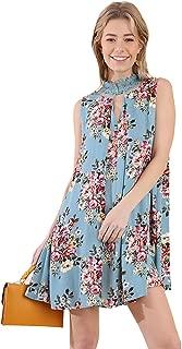 Umgee Retro Floral! Romantic Sleeveless Swing Dress