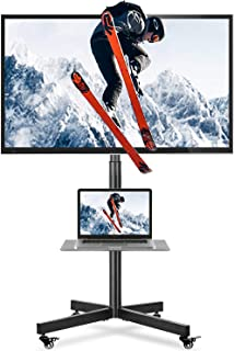 5Rcom Mobile TV Cart Floor TV Stand with Rolling Locking Wheels and Tilt Mount for Most 27-60 Inch Plasma LCD LED Flat Scr...