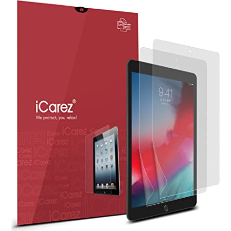 iCarez Anti-Glare Matte Screen Protector for iPad Mini 4 / iPad Mini 5 2019 7.9-inches Easy to Apply with Hinge Installation (Not Glass) 2-Pack