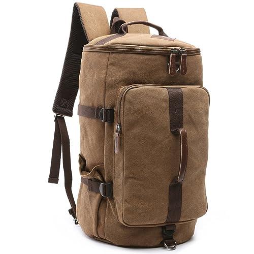 d8337e9548 BAOSHA HB-26 3-Ways Vintage Canvas Men Holdall Weekend Travel Duffel Bag  Backpack