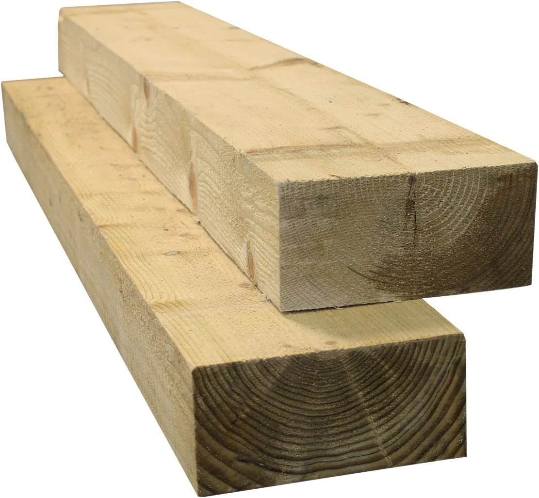 Suregreen Timber Sleepers 20.20m Tanalised Treated Softwood 20 Pack of Railway  Sleepers 200 x 20mm Thick