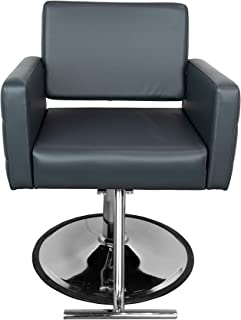 Standish Salon Goods Gwyneth Beauty Salon Chair - Grey - Round Base