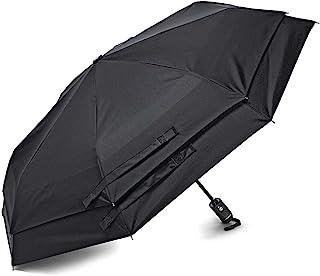 Samsonite paraguas de apertura y cierre automáticos, Negro, Una talla