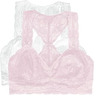 by Felina | Lace Bralette | Wire Free | Unpadded | T-Back | 2 Pack