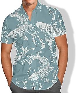 Camisa Praia Masculina Carpa Peixe Mar Férias