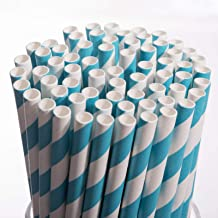 Biodegradable Paper Straws Drinking Disposable Eco-Friendly Straws Bulk for Birthday,Cake Pops Sticks,Baby Showers,Parties...