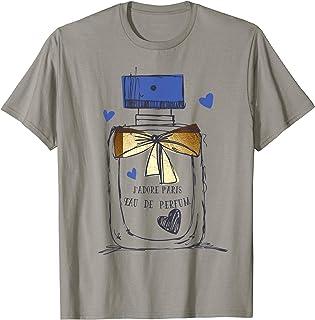 Paris Eau de Parfum Perfume Bottle French No.1 Regalo Camiseta