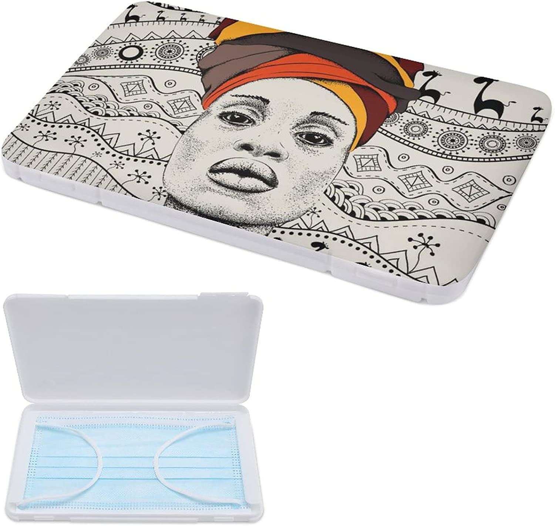 indimization Caja Para Guardar Mascarillas, Hermético Estuche Cuadrado Para Almacenar Máscaras Organizador Portátil Plástico Pato Lindo 11cmx19cm