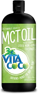 Vita Coco 100% Coconut MCT Oil, 32 Ounces - Non GMO Keto Paleo Diet Certified - Fuel for Brain Energy Focus Weight Loss and Workouts - Daily Supplement for Bulletproof Coffee, Shakes and Meals