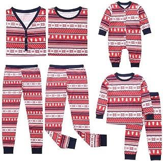 Weixinbuy Christmas Pajamas Set for Women Men Kids Toddler Family Matching Outfits Clothes Sleepwear
