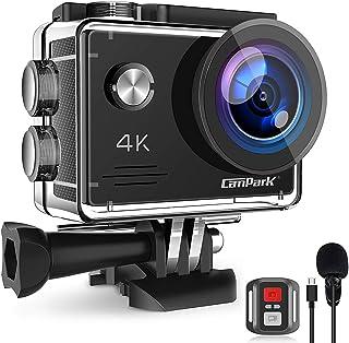 Campark X5 Cámara Deportiva 4K Wi-Fi 20MP (Cámara de Accion Acuatica de 40M con Micrófono Externo y Control Remoto, Funcio...