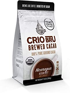 Crio Bru Brewed Cacao Nicaragua 10oz Bag | Natural Healthy Brewed Cacao Drink | Great Substitute to Herbal Tea and Coffee ...