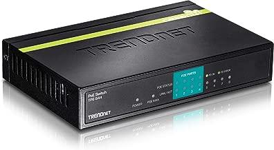 TRENDnet 8-Port 10/100Mbps PoE Switch, 4 x 10/100, 4 x 10/100 PoE, 802.3af, 30 W PoE Budget, Lifetime Protection, TPE-S44