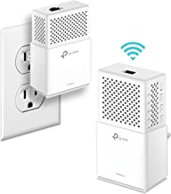 TP-Link AV1000 Powerline Wifi Extender, Powerline Adapter – Dual Band WiFi, Gigabit Port, Noise Suppression Design, Plug&Play, Power Saving(Tl-WPA7510 KIT)
