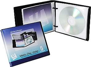 Cartera de CD / DVD UniKeep Disc 5 con páginas - Estuche de 30 (negro)