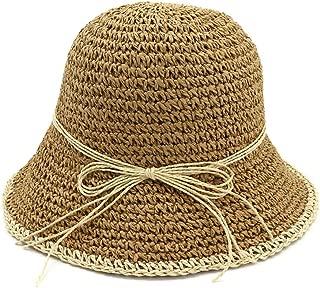Sun Hat for men and women 100% Handmade Women Crochet Straw Sun Hat Floral Sun Hats Summer Beach Folding Lady Casual Fashion Caps