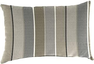 Sunbrella 19 in. x 12 in. Milano Charcoal Outdoor Throw Pillow