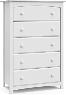 Stork Craft Kenton 5 Drawer Universal Dresser, White